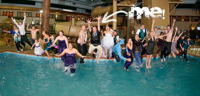 Yes That Is Me Jumping Into The Pool With Wedding Party In An Earlier Post I Mentioned How Each Couple Engagement And Are Creatively Unique